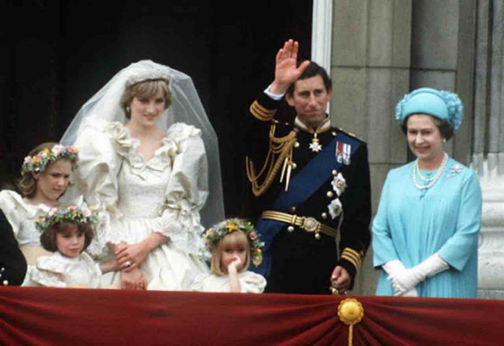 La Regina Elisabetta al matrimonio di Carlo e Diana (GettyImages)