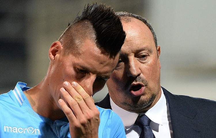 Rafa Benitez e Marek Hamsik