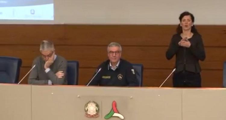 Conferenza Protezione Civile Borrelli