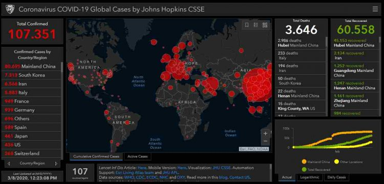 Mappa contagi