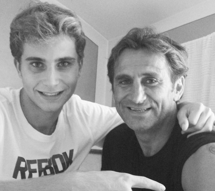 Alex Zanardi con il figlio Niccolò