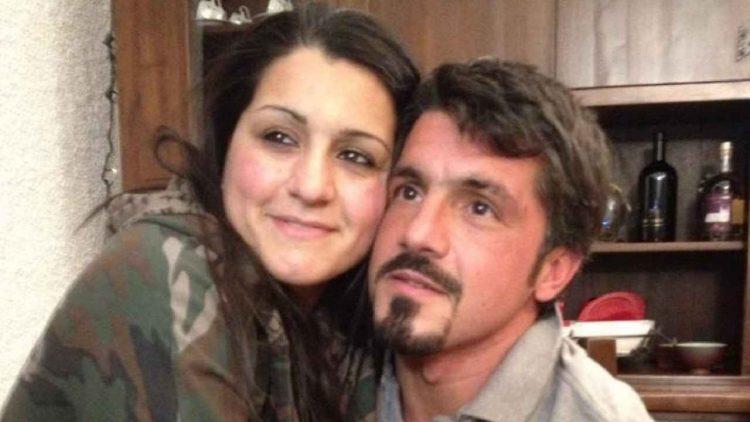 Rino Gattuso e la sorella Francesca