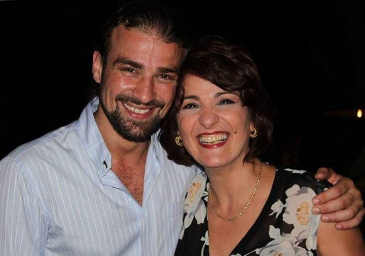 Mario Biondo e la madre Santina
