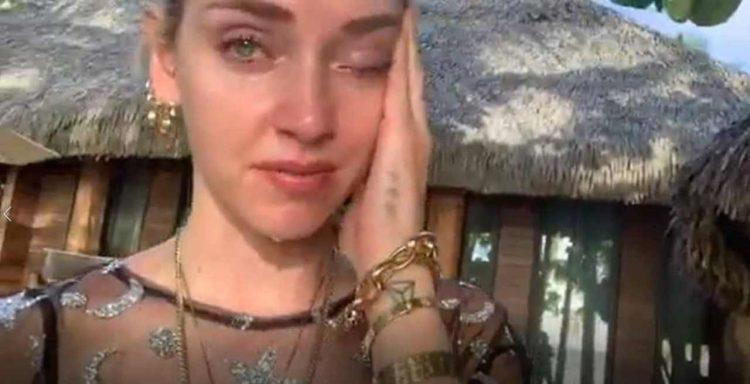 Chiara Ferragni in lacrime tumore
