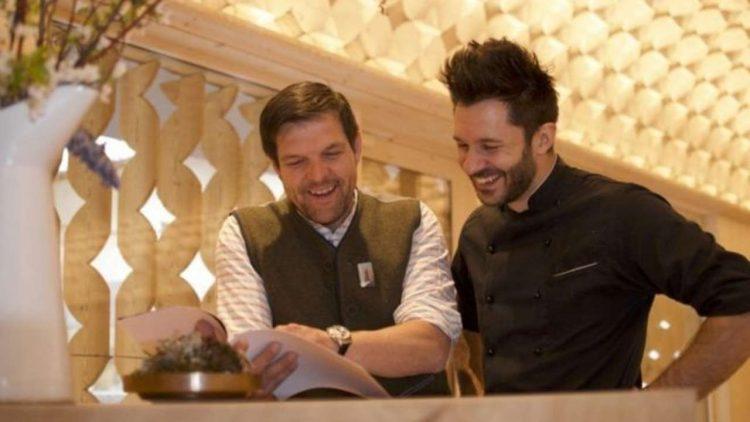 Chef Mattia Baroni con Gregor Wenter (Web)