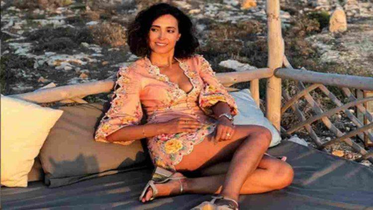 Caterina Balivo giovane a Capri