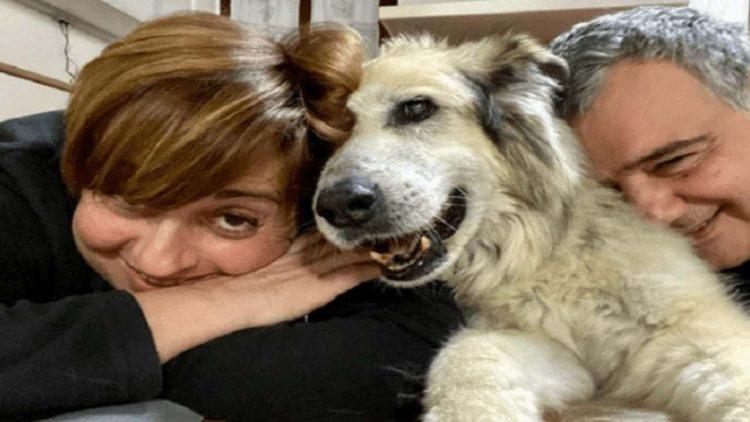 Benedetta Rossi con Marco e il cane Nuvola (foto dal web)