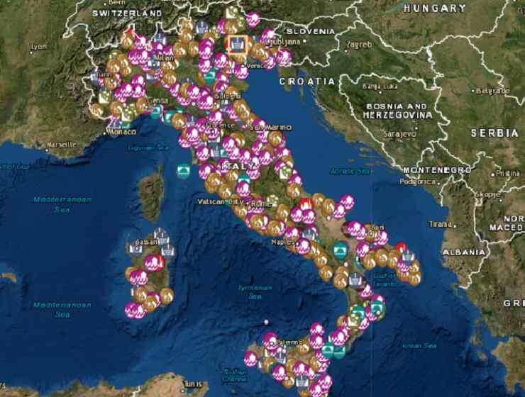 Mappa interattiva Italia