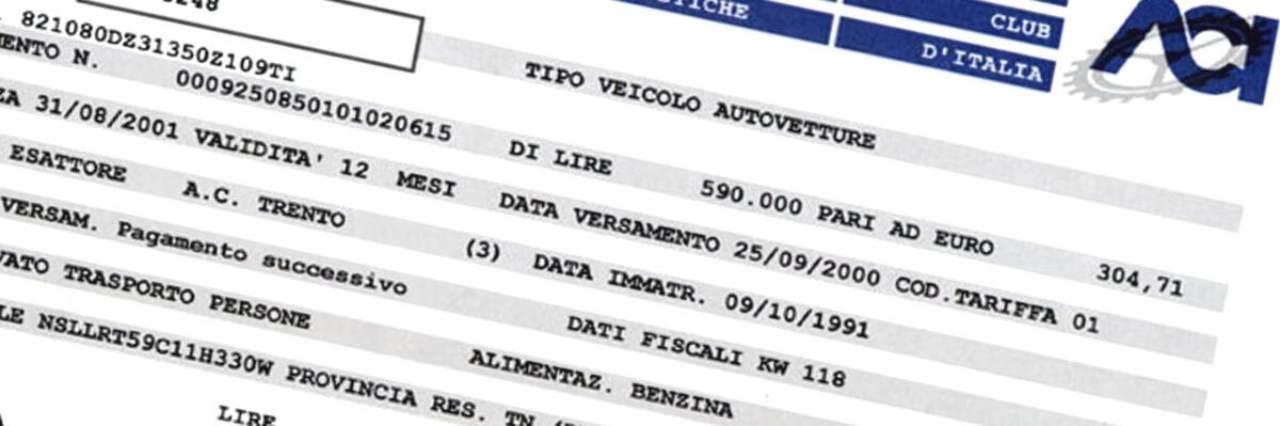 Passaggio di proprietà: pagamento bollo - Calcolocosto.it