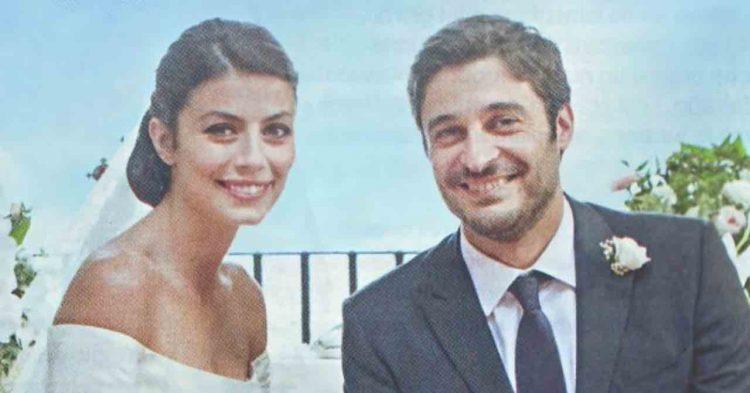 Alessandra Mastronardi e Lino Guanciale sposi set l'Allieva