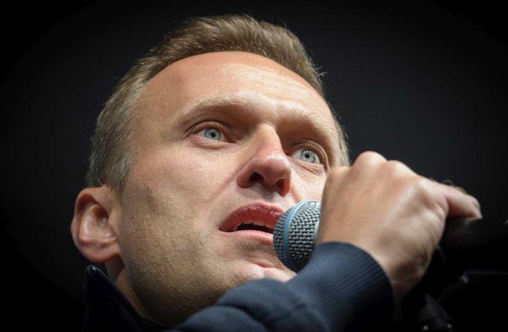 Caso Navalny foto messaggio avvelenamento