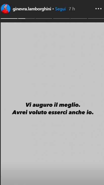Ginevra Lamborghini (screenshot ig stories)