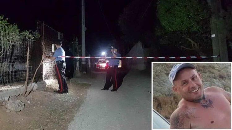 Il luogo dell'omicidio (foto Serreli) e, nel riquadro, la vittima (foto Facebook)