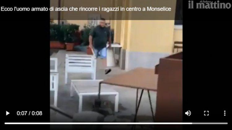 Inseguimento a Monselice (frame del video postato da Il Mattino di Padova)