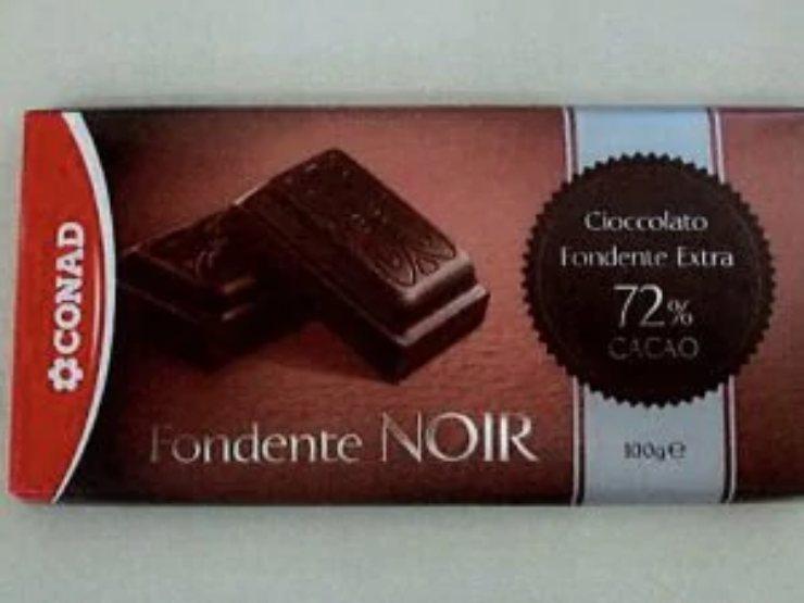 Plastica nella cioccolata, Conad richiama dal mercato Fondente Noir