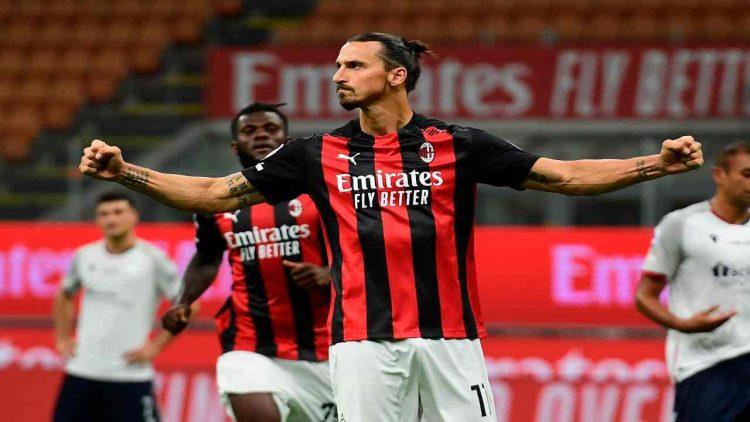 Milan Bologna cronaca tabellino Ibrahimovic