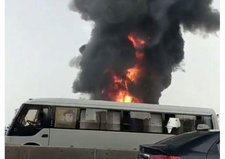 Incendio porto (foto dal web)
