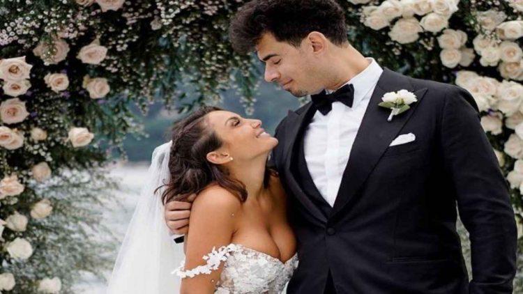 Elettra lamborghini tre abiti da sposa