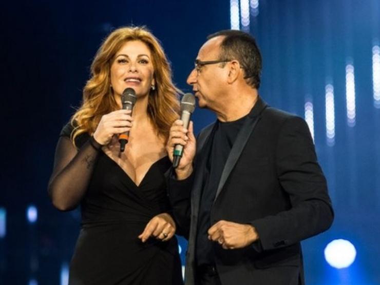 Vanessa Incontrada e Carlo Conti