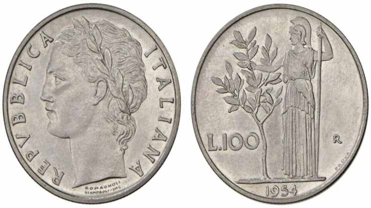100 lire del 1954