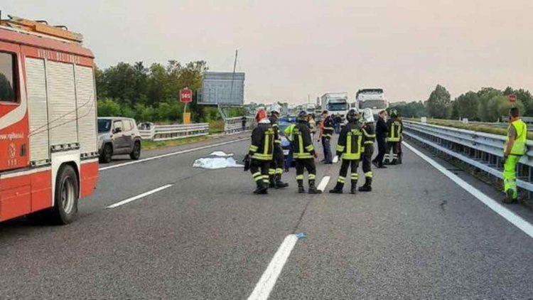 Incidente mortale in A27 (foto dal web)