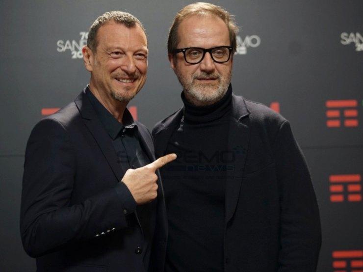 Amadeus e Stefano Coletta Sanremo 2021