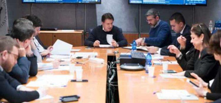 Conte riunione Ctd Dpcm (foto dal web)