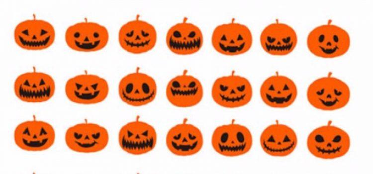 Halloween intagliare zucche varie espressioni