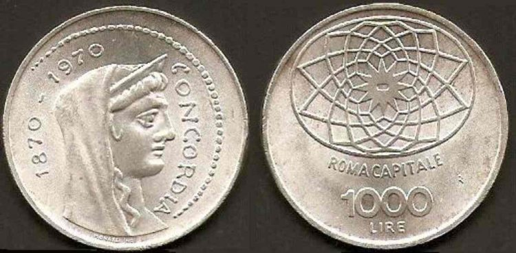 1000 Lire 1970
