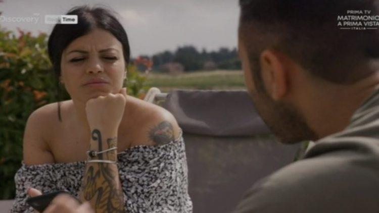 "Sitara e Gianluca di ""Matrimonio a prima vista 2020 (screenshot programma)"