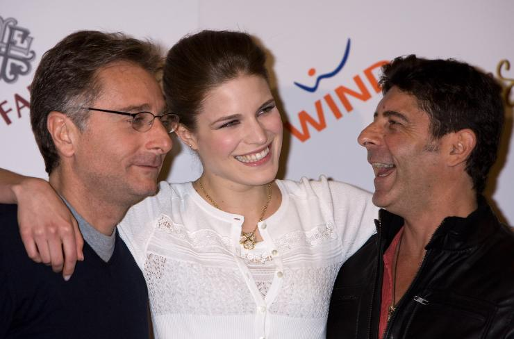 Alessia Piovan Paolo Bonolis e Luca Laurenti Sanremo 2009