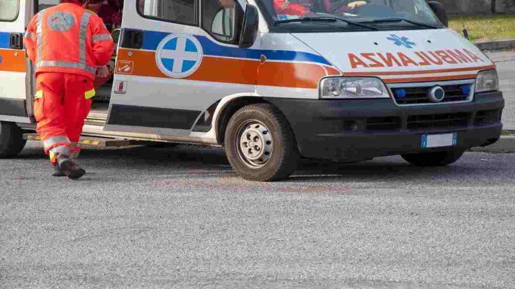 Ambulanza intervenuta a Costabissara