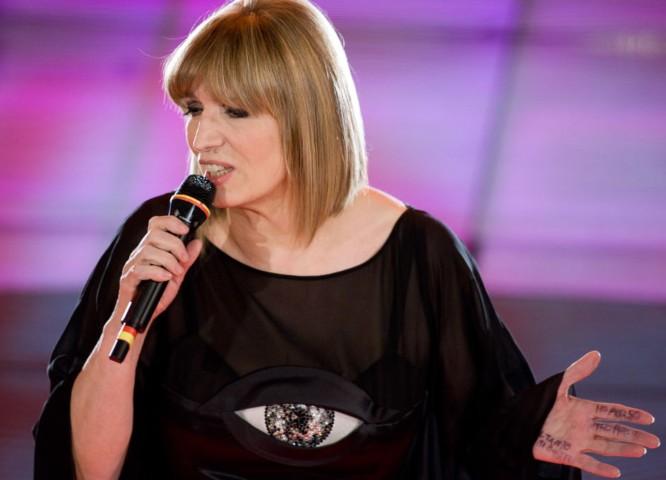 la cantante Iva Zanicchi