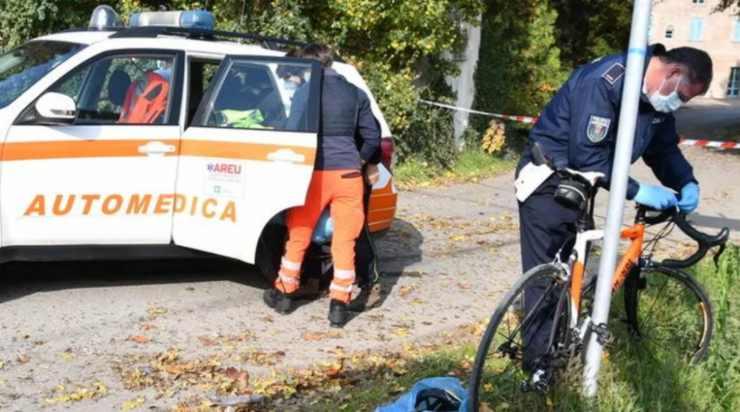 Luigi Lucchini morte in bicicletta (foto laprovinciapavese.it)