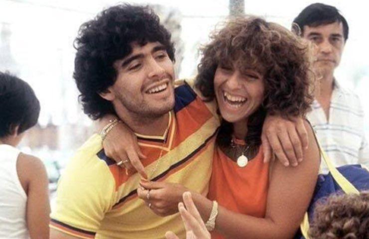 Maradona Claudia Villafane angelo custode