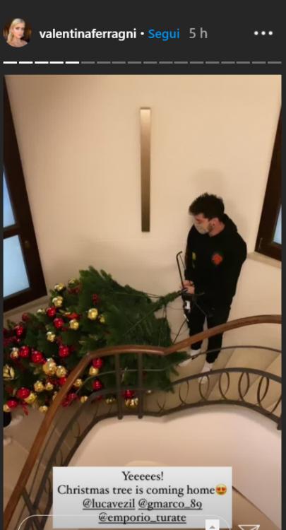Valentina Ferragni, a Vezagni's house è già Natale