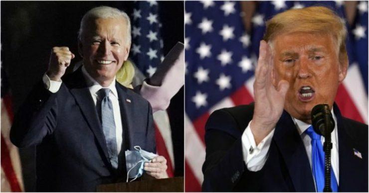 Biden e Trump