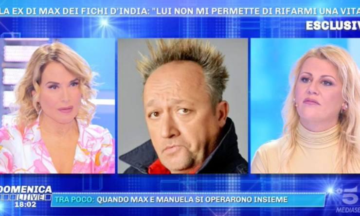 Domenica Live Manuela Russo (foto screenshoot trasmissione)