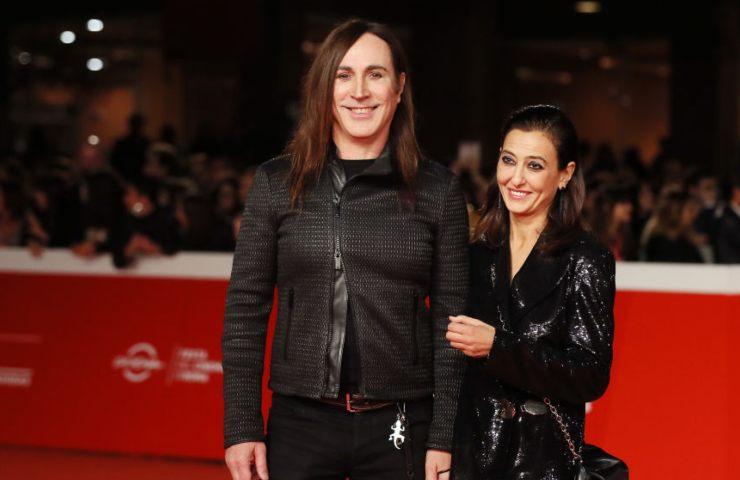 Manuel Agnelli e la moglie Francesca Risi