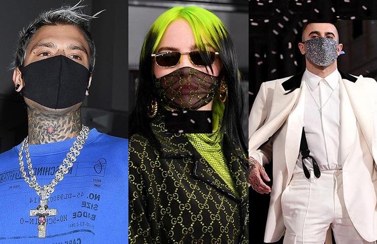 vip e mascherine di marca (foto dal web)