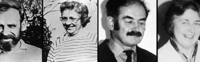 Le quattro vittime