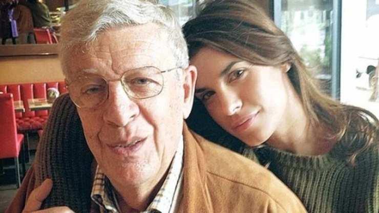 Elisabetta Canalis scomparsa padre