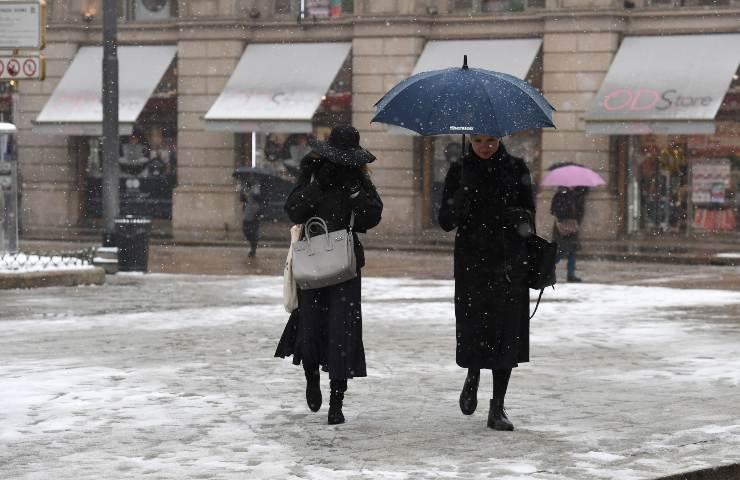meteo italia prossime ore neve