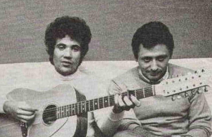 Lucio Battisti insieme a Mogol