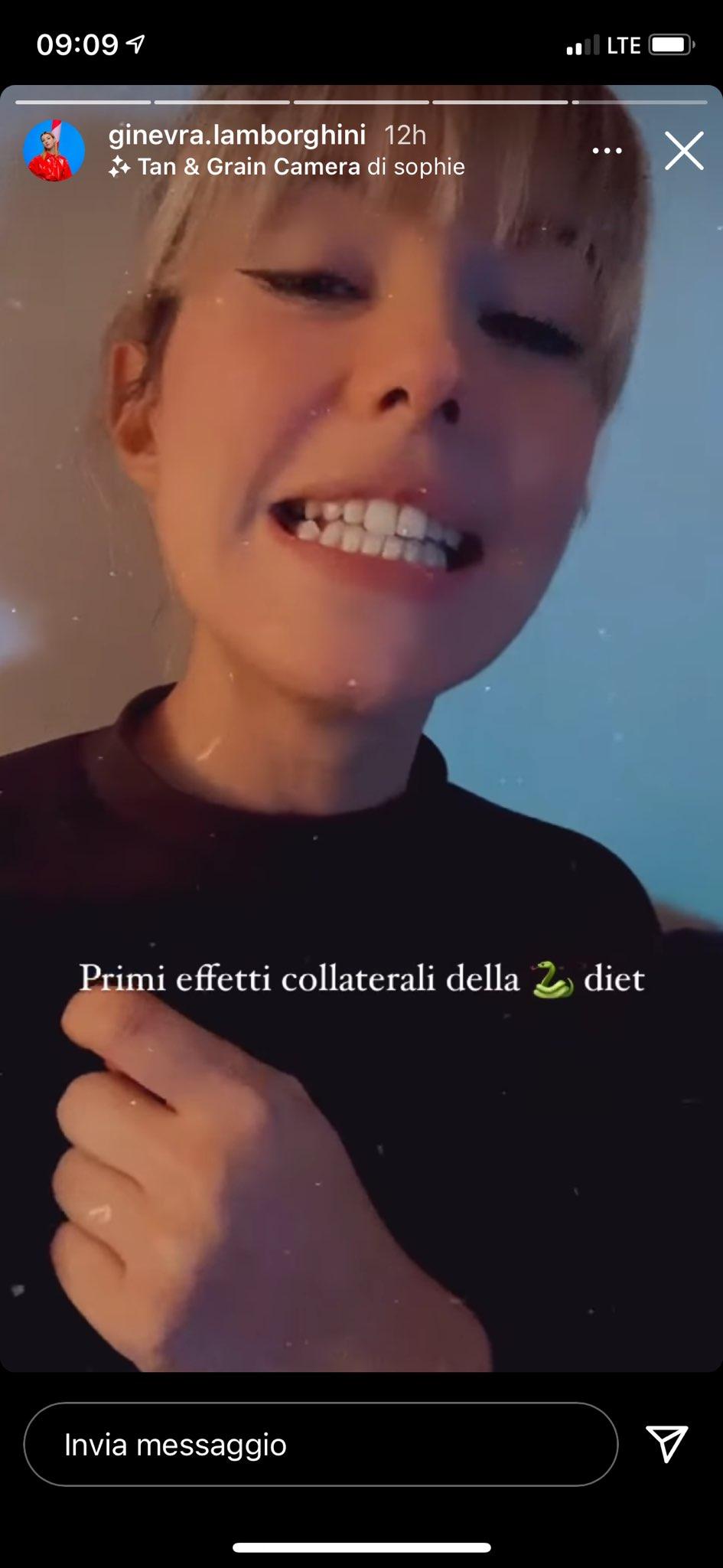 Ginevra Lamborghini dieta
