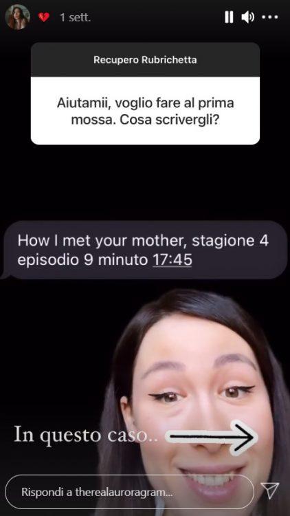 Aurora Ramazzotti rubrichetta Instagram