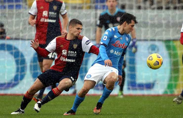 Cagliari-Napoli pagelle tabellino
