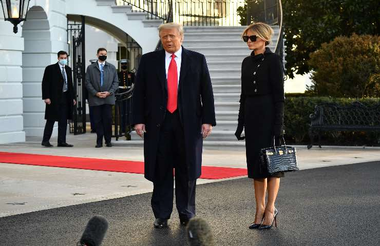 Melania Trump outfit addio