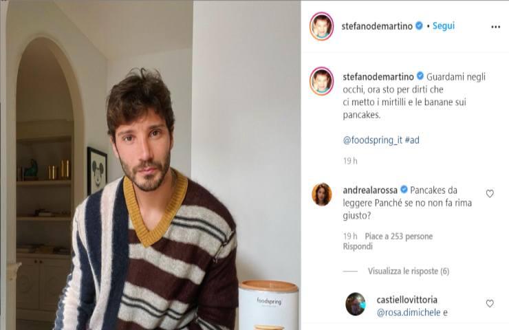 Stefano De Martino, quel messaggio ambiguo sui social