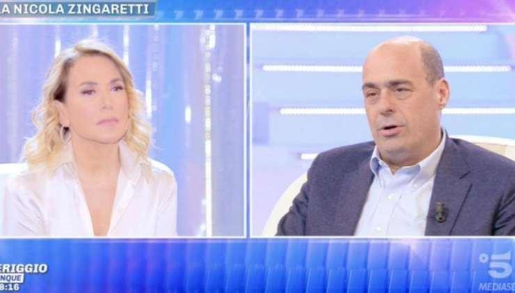 Chiude Live non è la d'Urso e Nicola Zingaretti la difende